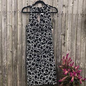 Dressbarn | Black Dress w/ white overlapping ring